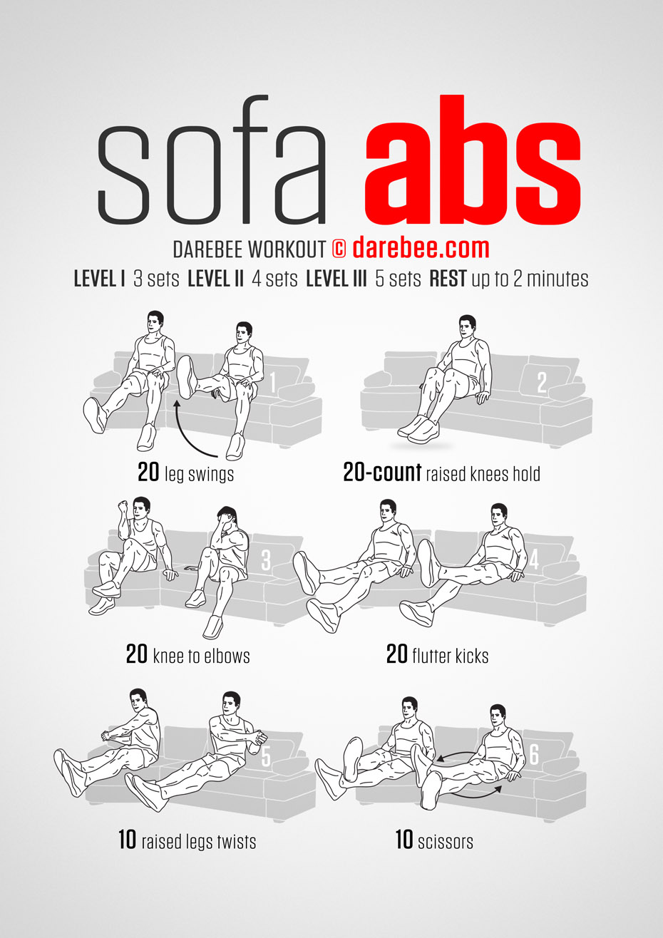 Here's How Sitting on Your Couch Can Give You Abs - Infographic