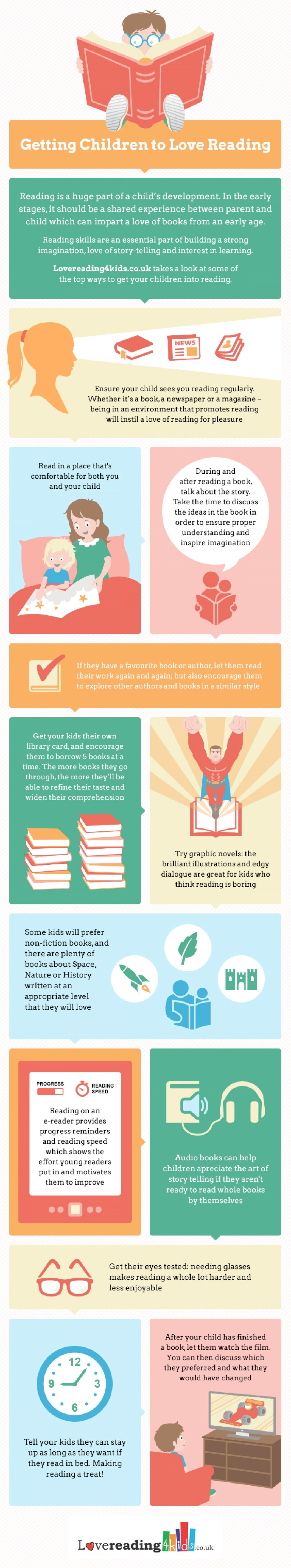 How to Get Your Kids to Love Reading - Infographic