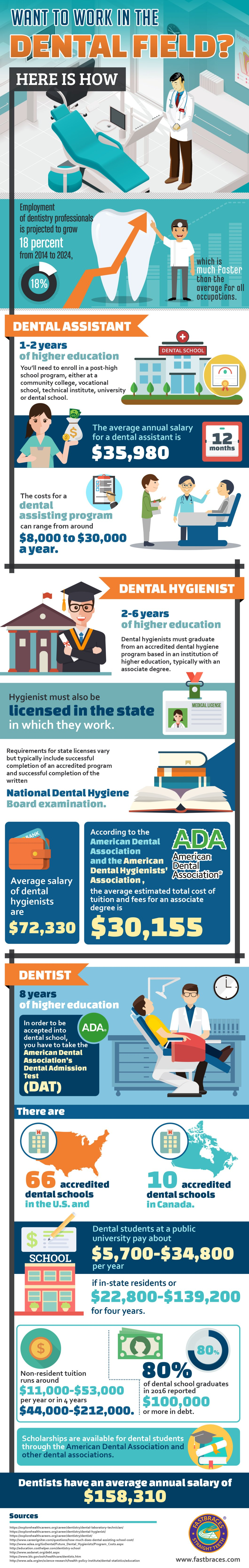 How to Pursue a Career in the Dental Field - Infographic