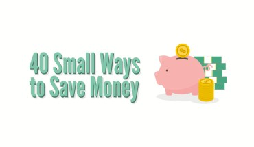 40 Smart and Easy Ways to Add Up the Savings - Infographic