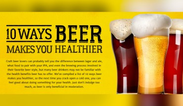 10 Reasons Why Beer is a Great Health Drink - Infographic