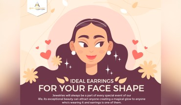 Jewelry Guide: How To Shop For Earrings According To The Shape Of Your Face - Infographic
