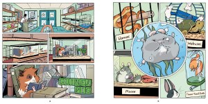 Spread from Guinea Pig: Pet Shop Private Eye #1, Hamster and Cheese