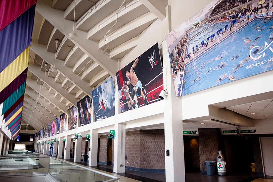 Greensboro Coliseum Complex - Pictorial History of Events Banners | Graphic Visual Solutions - Wide- Format Graphics