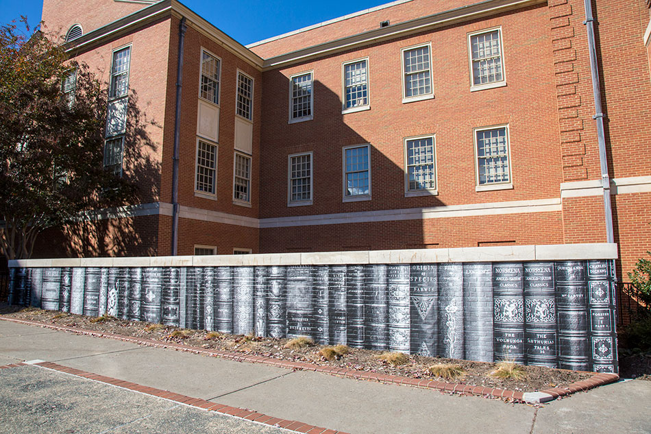 Wake Forest University - Custom Library Exterior Graphics | Graphic Visual Solutions - Wide-Format Graphics