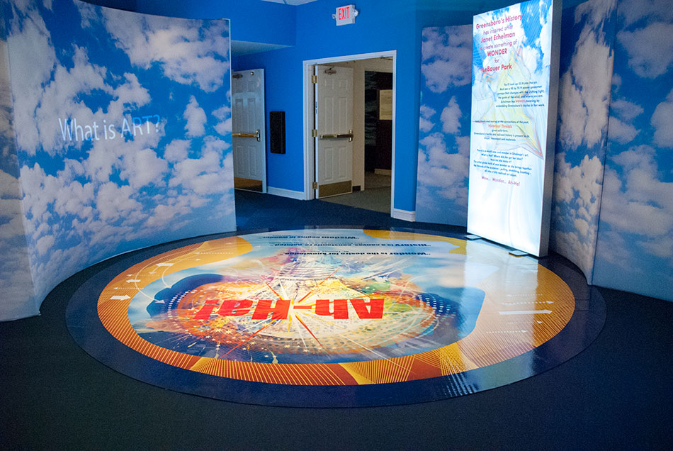 Greensboro Historical Museum - Floor and Ceiling Graphics | Graphic Visual Solutions - Wide-Format Graphics