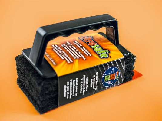 Citrusafe - BBQ Grill Scrubber Wrap Label | Graphic Visual Solutions - Labels & Packaging