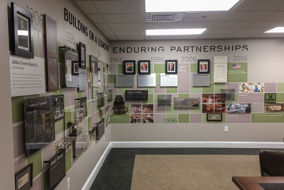 Marsh Furniture Company Timeline Wall Graphics Graphic