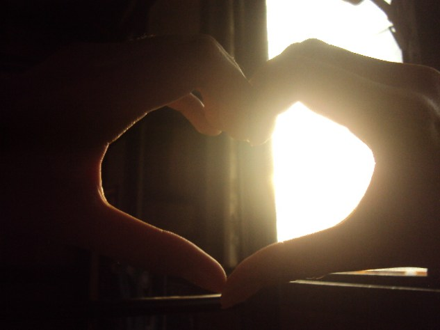 My photography training wouldn't be complete without the famous hand heart photo.