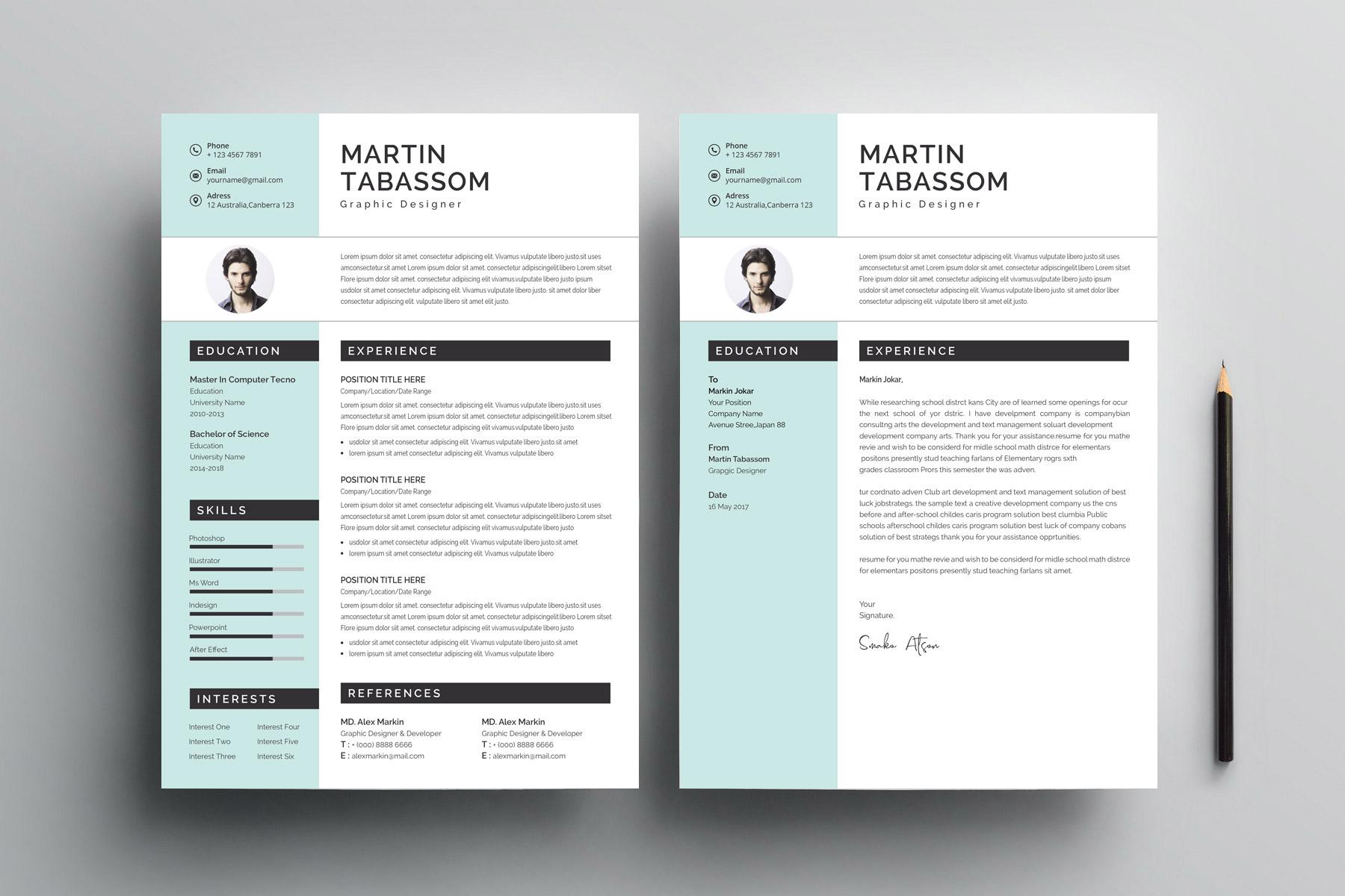 modern cv design templates  u2013 graphic yard