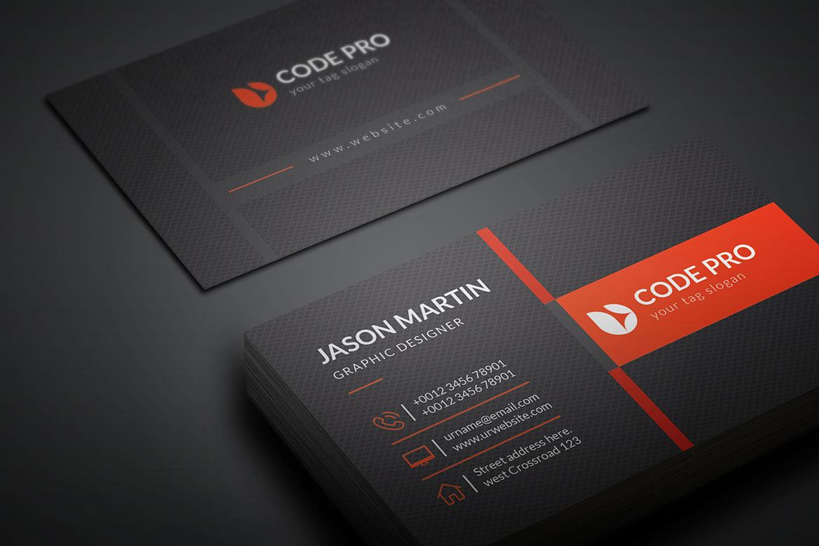 modern name card template  graphic yard  graphic