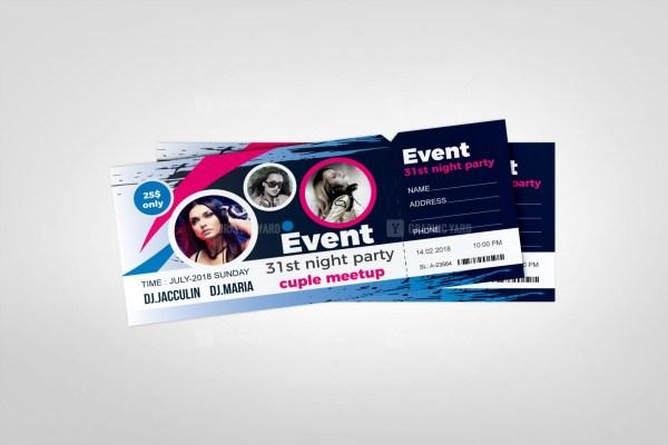Carnival Event Ticket Design