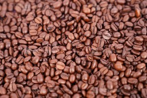 Fresh roasted coffee beans image