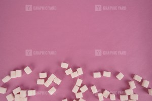 Lump sugar on rose stock photo