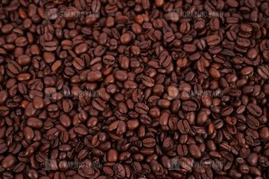 Pile of coffee beans stock photo
