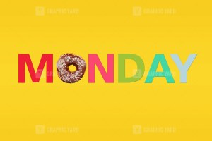Word Monday composed on yellow