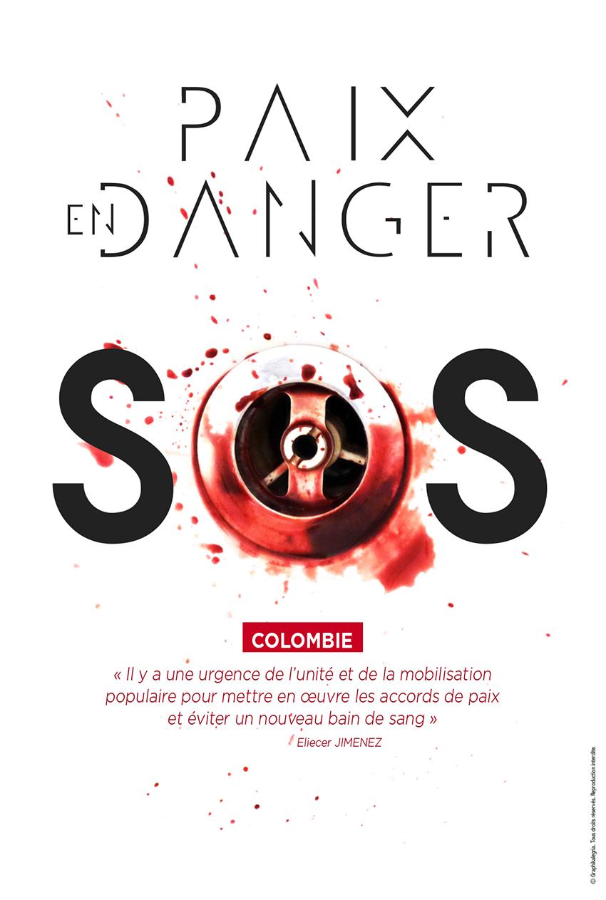 paix en danger Colombie, SOS urgence mobilisation populaire bain de sang