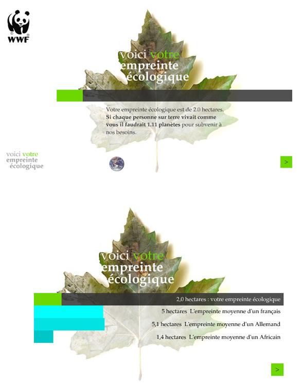 wwf1 Un petit site signé WWF pour calculer son empreinte écologique : )