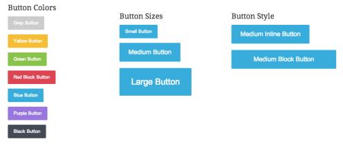 Shortcode flat buttons