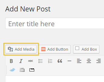 The Add Media button of the TinyMCE editor.