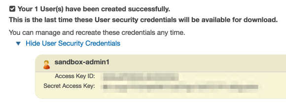 The User Confirmation screen in Amazon S3.