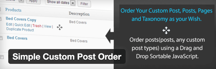 The Simple Custom Post Order plugin.
