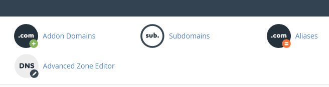 The option to create a subdomain.
