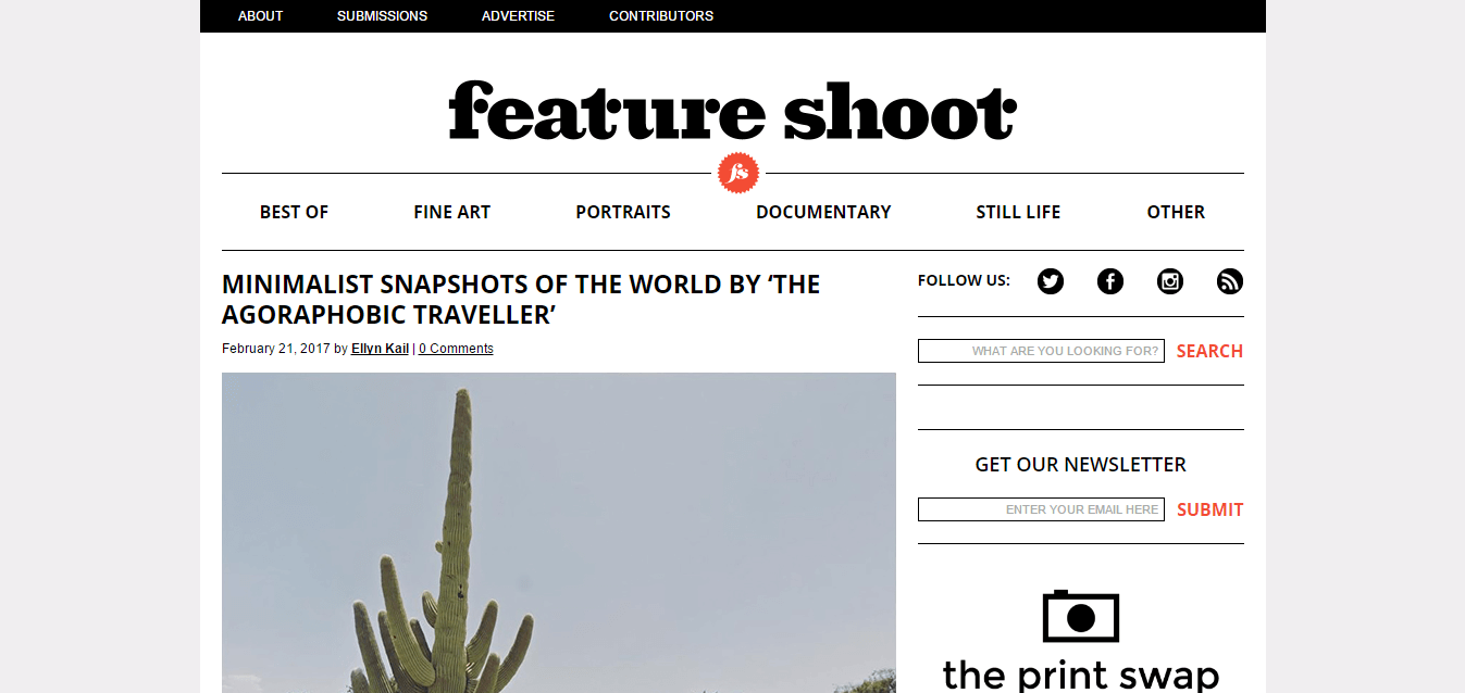 Feature Shoot homepage