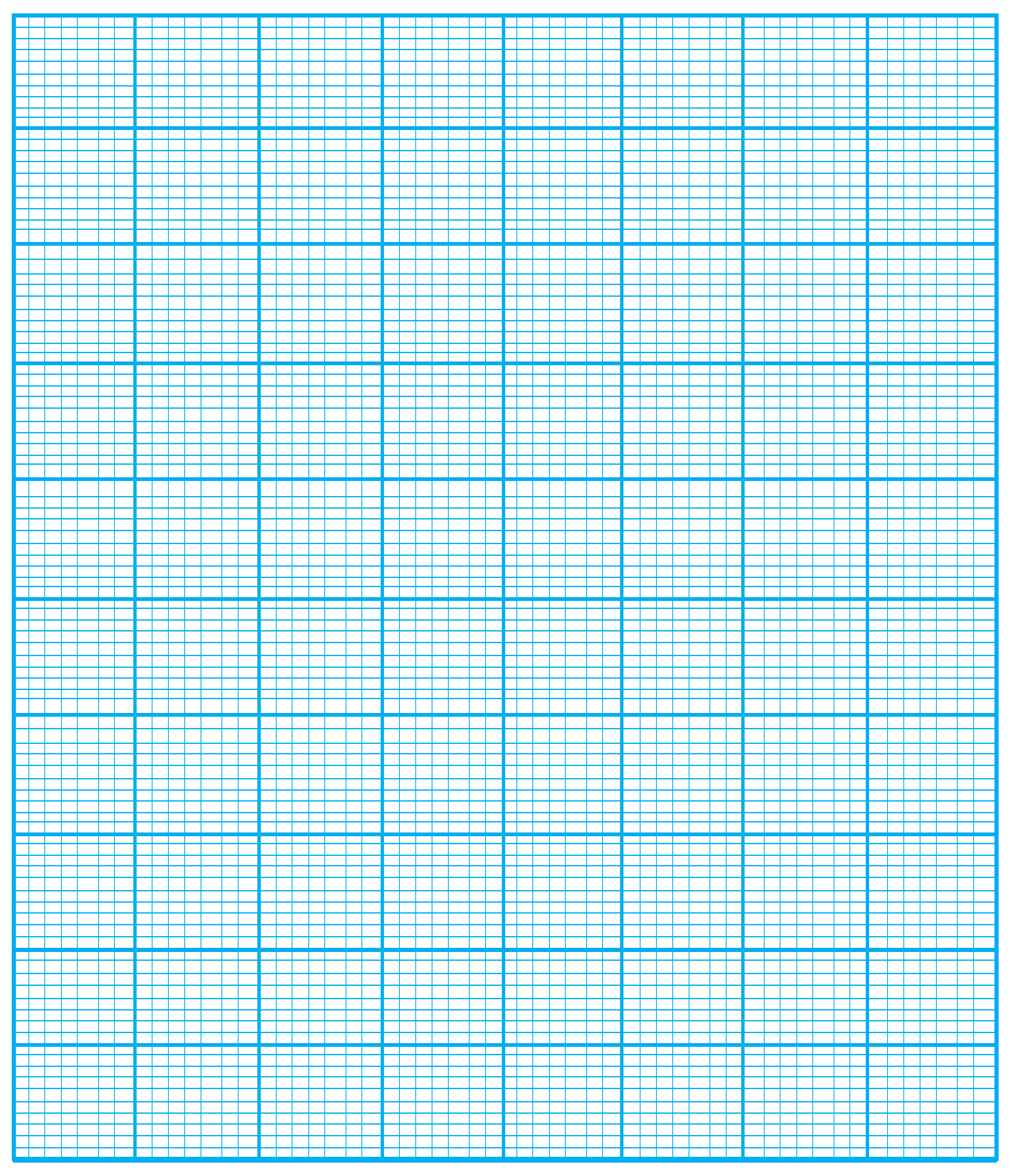 4 Free Printable Numbered Graph Paper