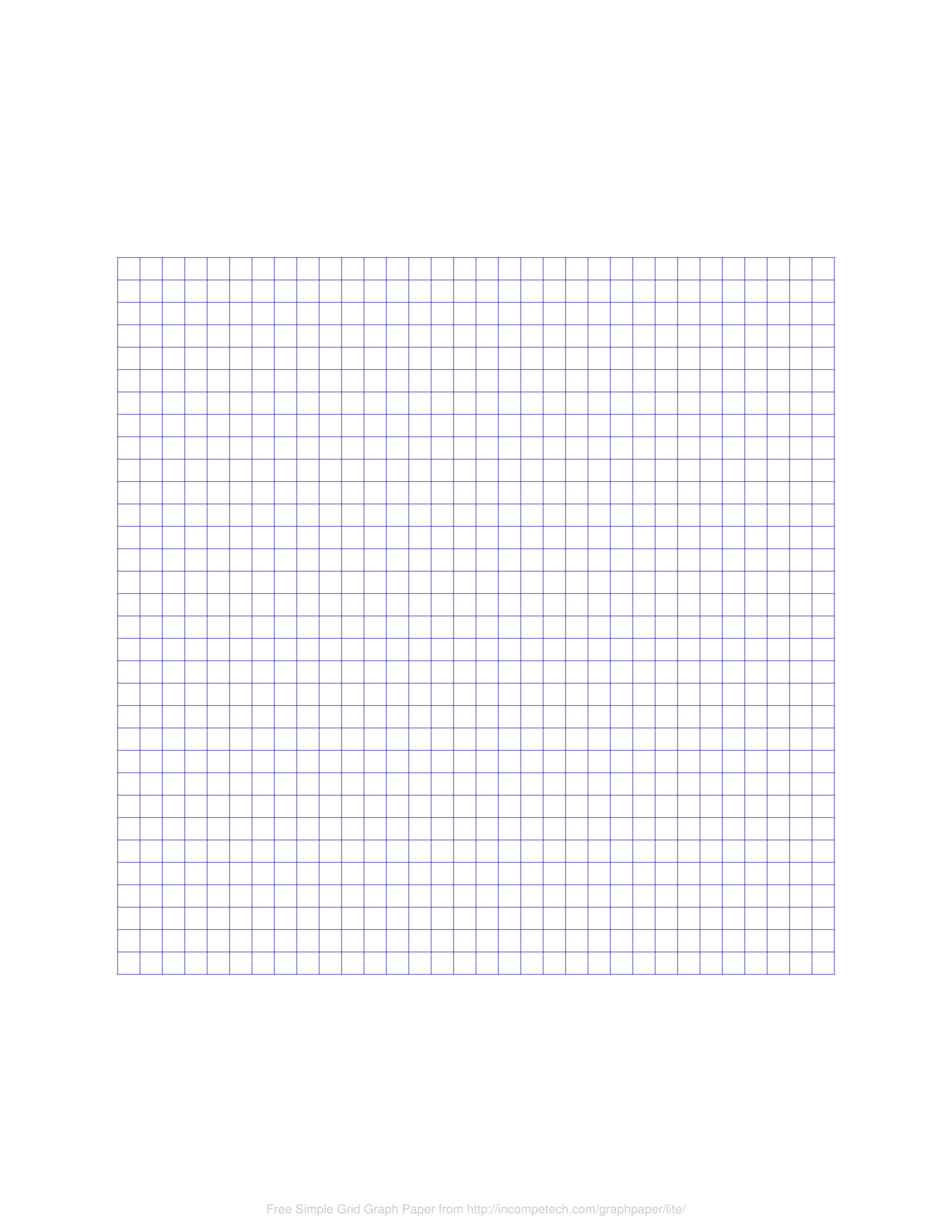 Online Free Printable Blank Graph Paper Template