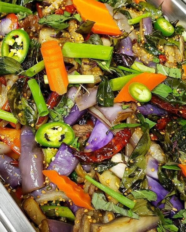 Eggplant Closeup