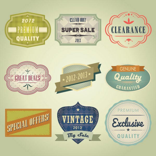Vintage Design Badges