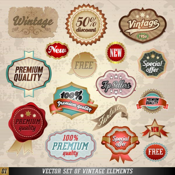 Vintage Labels Badges