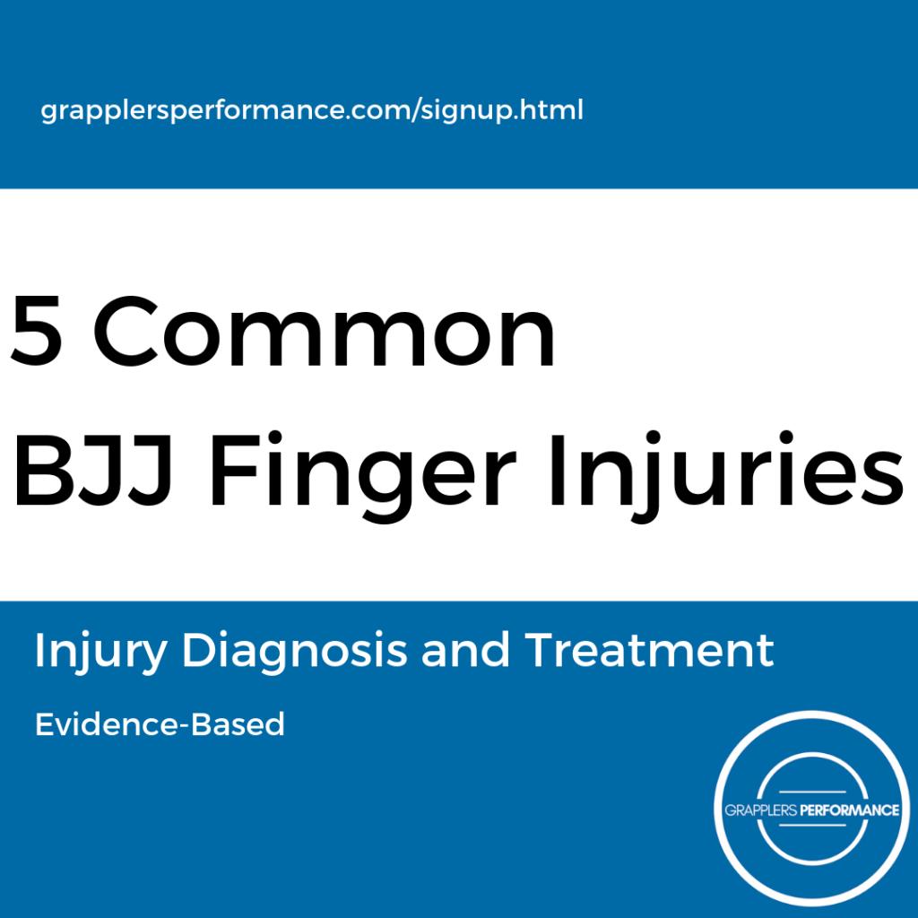 BJJ Finger Injury