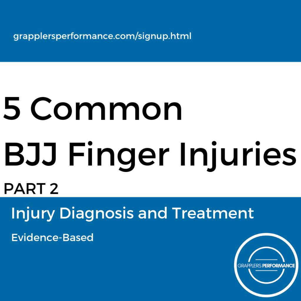 BJJ Finer Injury