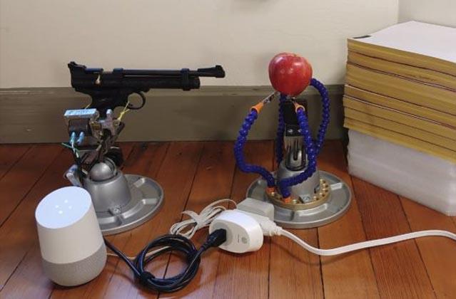 Artist Uses Google Assistant to Fire a Gun