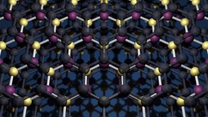 Graphene Boron Nitrate heterostructure © University of Manchester Dr K Novoselov