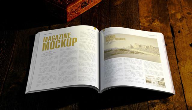 free open magazine mockups