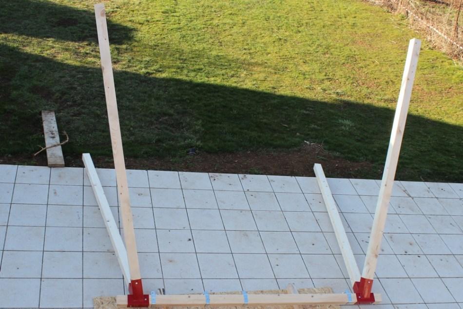 Schaukel aufstellen - fertiges Schaukelgestell (c) Grashüpfer