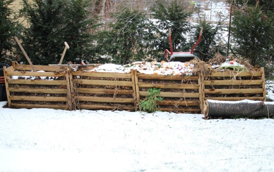 komposthaufen im winter