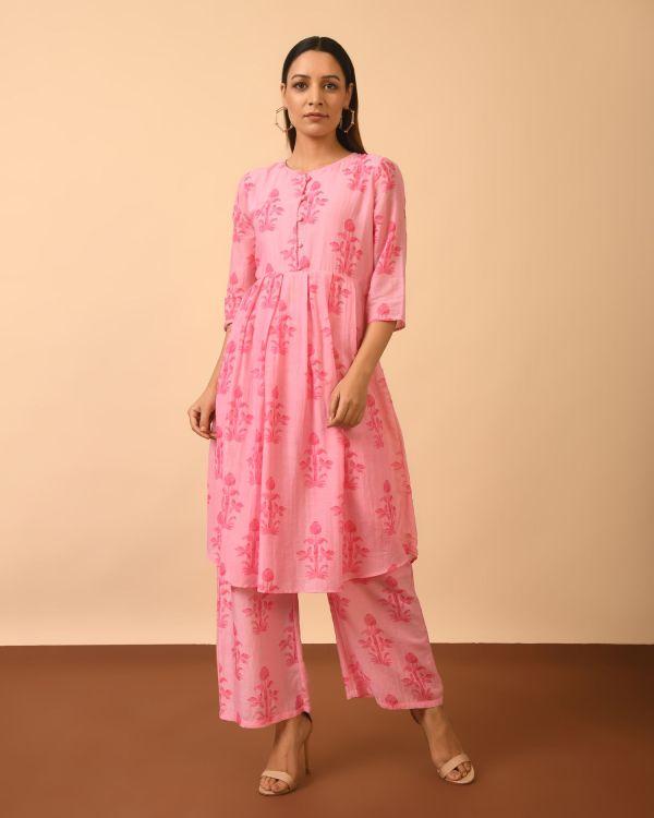 Ladies Cotton Silk Printed Kurta Set