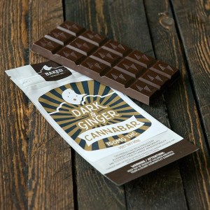 Baked Edibles – Dark & Ginger Bars – 150mg THC