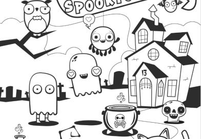 Spooktonville – Halloween Colouring Competition