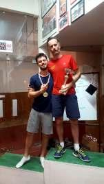 Thibault Guilen 4eme et Nicolas Sabarros 3eme