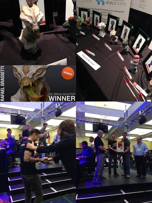 "3D Printer Expo 2014 -winner of best piece on zbrush ""sculpt-off"""