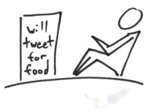 Social Media Gurus will Tweet for Food
