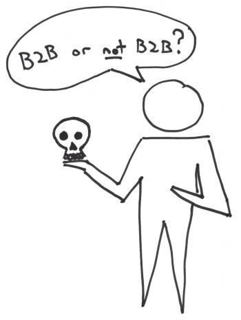 Philosophy and Lean Startup Pun B2B or not B2B