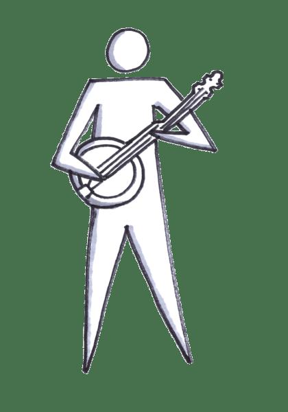 Somebody playing the banjo