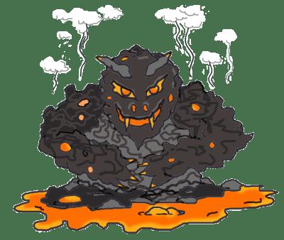 A lava monster