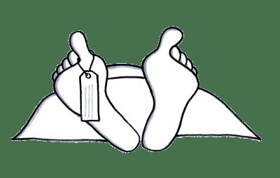 Feet of a dead body